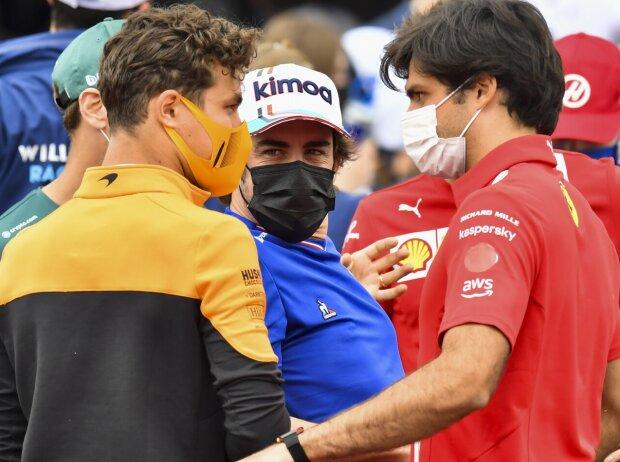 Lando Norris, Fernando Alonso, Carlos Sainz, Pierre Gasly