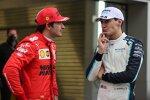 Carlos Sainz (Ferrari) und George Russell (Williams)