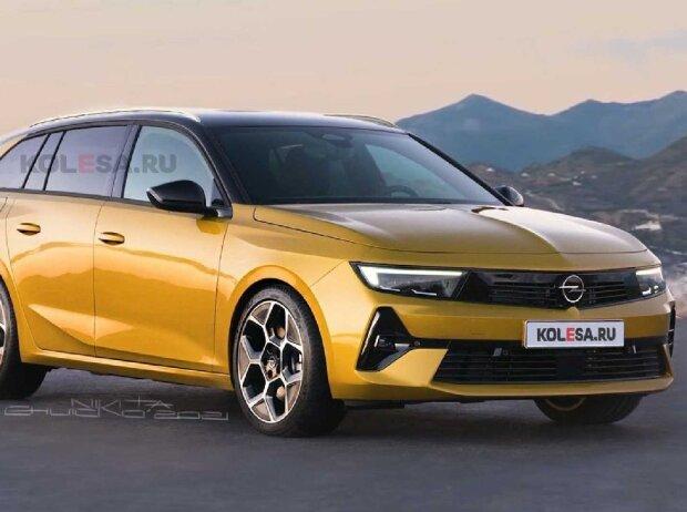 Opel Astra Sports Tourer (2022) als Rendering