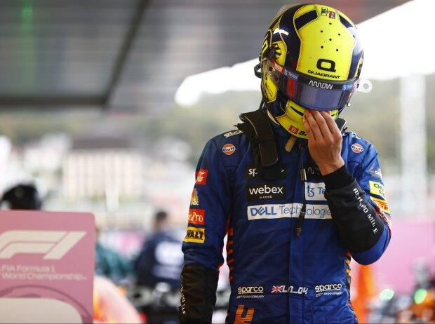 Lando Norris ist nach Platz sieben beim Formel-1-Rennen in Russland 2021 enttäuscht