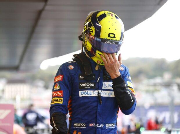 Große Enttäuschung bei Lando Norris (McLaren) nach dem Grand Prix von Russland in Sotschi 2021