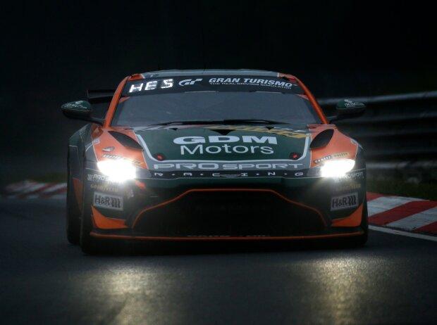 Prosport-Aston-Martin Vantage GT4 bei der Nürburgring-Langstrecken-Serie (NLS, Ex-VLN) auf der Nürburgring-Nordschleife