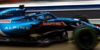 Fernando Alonso (Alpine A521) beim Formel-1-Rennen von Russland in Sotschi 2021