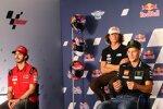 Francesco Bagnaia (Ducati), Joe Roberts (Italtrans) und Fabio Quartararo (Yamaha)