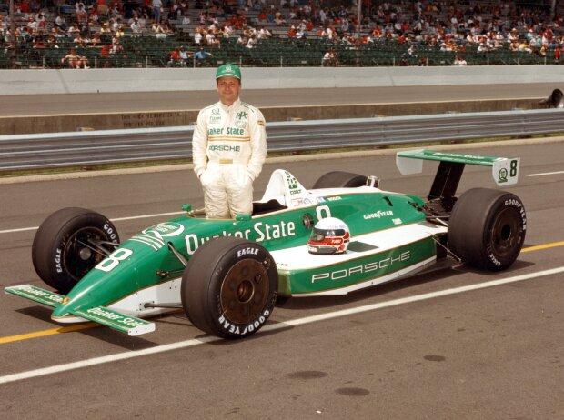 Teo Fabi im March-Porsche beim Indy 500 der CART-Saison 1989
