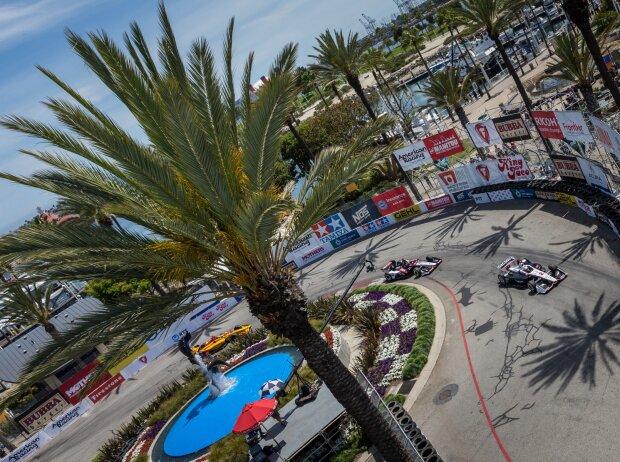 IndyCar-Action auf dem Stadtkurs in Long Beach