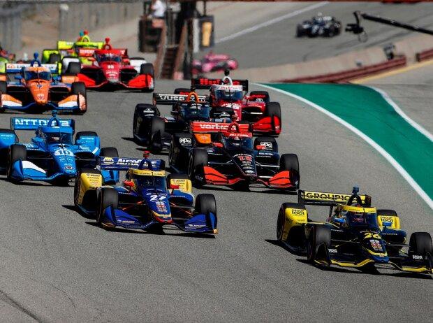 Start zum IndyCar-Rennen 2021 auf dem Laguna Seca Raceway