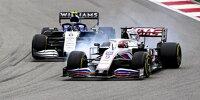 Nikita Masepin (Haas VF21) vor Nicholas Latifi (Williams FW43B) beim Formel-1-Rennen von Russland in Sotschi 2021