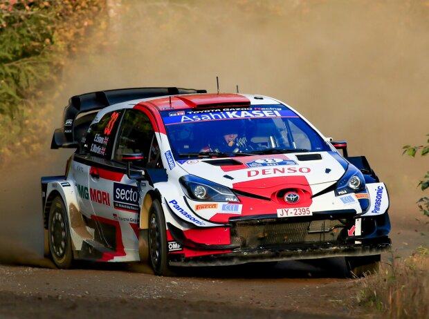 Elfyn Evans im Toyota Yaris WRC bei der Rallye Finnland 2021