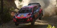 Daniel Sordo springt in seinem Hyundai i20 WRC