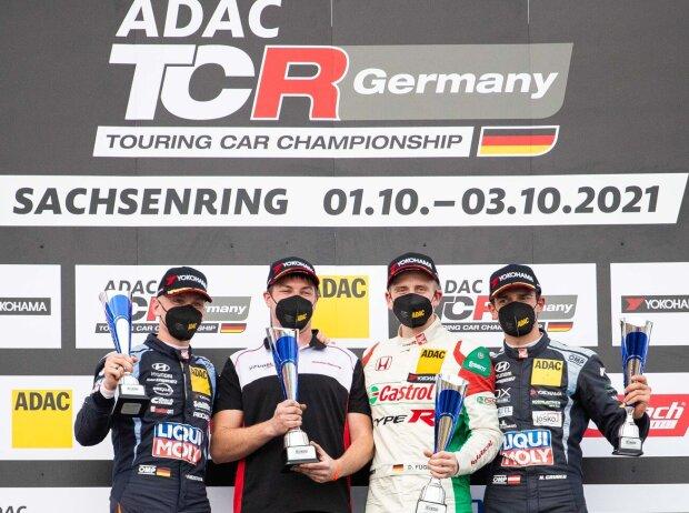 Siegerehrung der TCR Germany auf dem Sachsenring