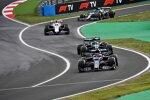 Yuki Tsunoda (AlphaTauri), Sebastian Vettel (Aston Martin), Mick Schumacher (Haas) und Lance Stroll (Aston Martin)