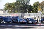 Nick Cassidy (AF-Corse-Ferrari), Liam Lawson (AF-Corse-Ferrari) und Kelvin van der Linde (Abt-Audi)