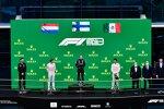 Max Verstappen (Red Bull), Valtteri Bottas (Mercedes) und Sergio Perez (Red Bull)