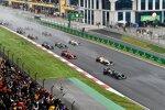 Valtteri Bottas (Mercedes), Max Verstappen (Red Bull), Charles Leclerc (Ferrari), Pierre Gasly (AlphaTauri) und Sergio Perez (Red Bull)