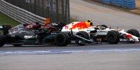 Sergio Perez und Lewis Hamilton beim Zweikampf in Istanbul