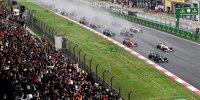 Start zum Formel-1-Rennen in Istanbul in der Türkei 2021 auf nasser Strecke