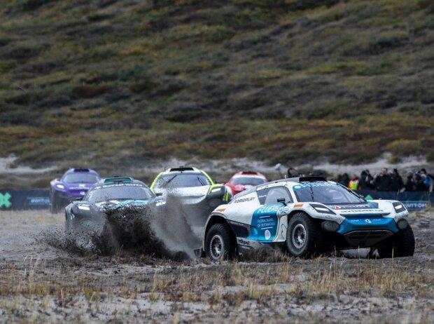 Rennfahrzeuge der Extreme E beim Rennen auf Grönland