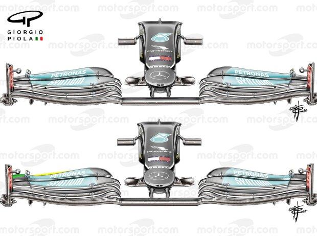 Mercedes Frontflügel Grafik