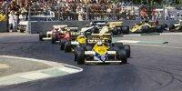 Formel-1-Start beim ersten Grand Prix von Australien in Adelaide 1985 im Victoria Park