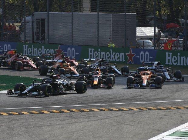 Start zum Formel-1-Sprintqualifying in Monza 2021