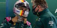 Sebastian Vettel mit seinem Formel-1-Teamchef Otmar Szafnauer von Aston Martin