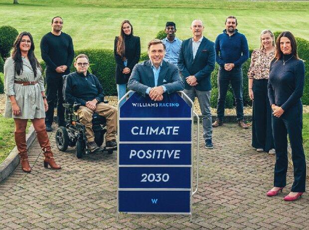 Williams-Teamchef Jost Capito bei der Vorstellung einer neuen Nachhaltigkeitskampagne