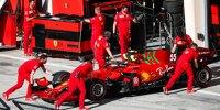 Carlos Sainz (Ferrari) bei den Formel-1-Testfahrten 2021 in Bahrain