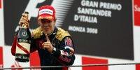Sebastian Vettel (Toro Rosso) bei seinem ersten Sieg beim Formel-1-Rennen von Italien in Monza 2008