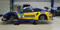 Der Porsche 911 GT3 R von MRS-GT Racing mit den Fahrern Martin Ragginger und Maximilian Hackländer im neuen Design für das ADAC GT Masters