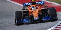 Lando Norris im McLaren MCL35M im Freien Training zum USA-Grand-Prix 2021 der Formel 1 in Austin