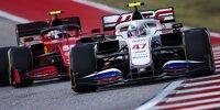 Mick Schumacher im Haas VF-21 vor Carlos Sainz im Ferrari SF21 in Austin