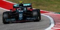 Sebastian Vettel im Aston Martin AMR21 in Austin