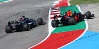"""Start zum Grand Prix der USA in Austin 2021: Lewis Hamilton lässt Max Verstappen in der ersten Kurve außen """"verhungern"""""""
