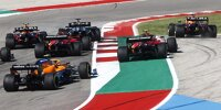 Die erste Kurve nach dem Start zum Formel-1-Rennen in Austin 2021