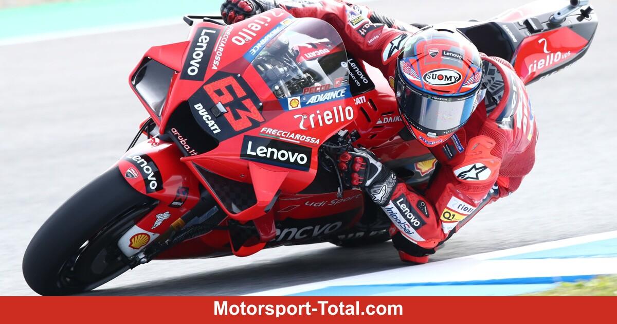 MotoGP in Jerez FT2: Francesco Bagnaia hält Fabio Quartararo in Schach
