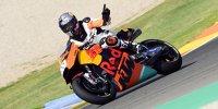 Tony Cairoli testet MotoGP-KTM