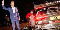 DTM-Champion Rene Rast feiert in Minden
