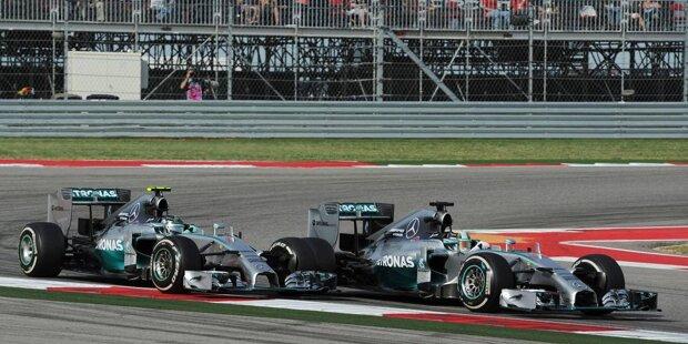 Dritter USA-Grand-Prix in Austin, zweiter Sieg für Lewis Hamilton nach 2012: Mit seinem 32. Grand-Prix-Triumph zieht er an Nigel Mansell (31) vorbei und ist nun erfolgreichster britischer Formel-1-Fahrer aller Zeiten. Sehr zum Leidwesen des zweitplatzierten Teamkollegen Nico Rosberg.