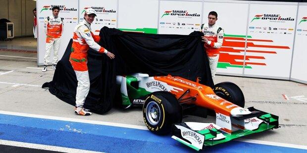 2008: Am Gateway of India in Mumbai hat alles begonnen. Dort stellte Force India 2008 den ersten Formel-1-Wagen des Teams vor, den VJM01. Und wie alle seine Nachfolger, so ist schon das erste Auto nach Teamchef und Teameigner Vijay Mallya benannt.
