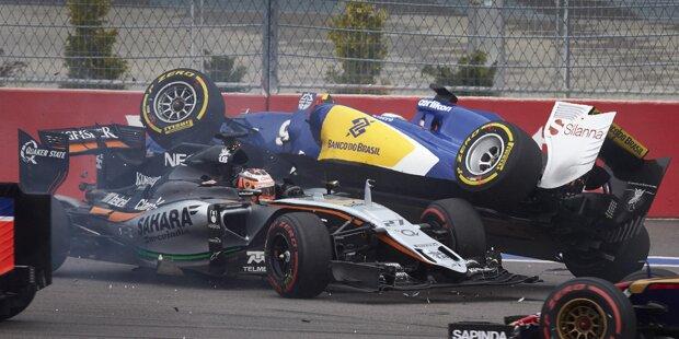 Fast geschafft: Lewis Hamilton (Mercedes) gewinnt nach 2014 auch den zweiten Grand Prix von Russland und ist damit praktisch Formel-1-Weltmeister 2015. Wenn er in Austin neun Punkte mehr holt als Sebastian Vettel (Ferrari) und zwei als Nico Rosberg (Mercedes), ist ihm der dritte Titel nicht mehr zu nehmen.