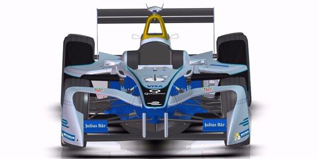 Die Boliden der Formel E bekommen in der Saison 2016/17 ein neues Design.