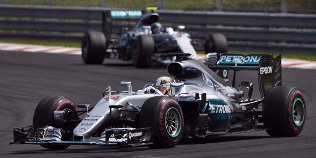 Mit dem fünften Sieg auf dem Hungaroring hat Lewis Hamilton nun sogar Michael Schumacher übertrumpft. In der ewigen Bestenliste fehlen ihm noch drei Siege auf die 51 von Alain Prost. Und in der WM 2016 führt er ausgerechnet vor Hockenheim zum ersten Mal, mit sechs Punkten Vorsprung. Dabei hatte er zwischenzeitlich schon 43 Rückstand...