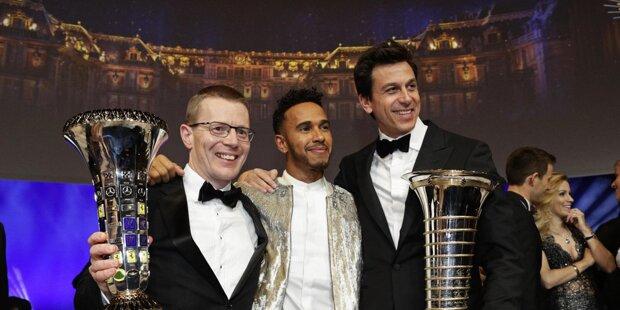 Die FIA-Gala im Schloss Versailles vor den Toren von Paris bildete den pompösen Abschluss der Motorsport-Saison.