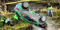 Spektakulärer Überschlag bei der Rallye GB