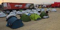 Das Leben im Biwak der Rallye Dakar