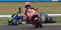 #TermasClash: Marquez rammt Rossi weg