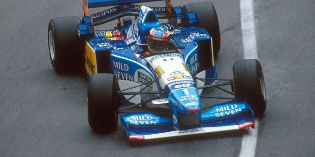 """Jordan 191: Alles beginnt 1991 in Spa - und ist bereits nach wenigen Metern wieder vorbei. """"Schumi"""" Debütrennen in der Formel 1 dauert nur wenige Meter, dann gibt die Kupplung des Boliden auf. Im Jordan 191 sitzt der spätere Rekordchampion anschließend nie wieder. Bilanz: 1 Rennen, 0 Siege, 0 Pole-Positions"""