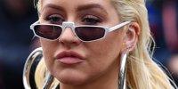 Baku: Christina Aguilera im Formel-1-Fieber