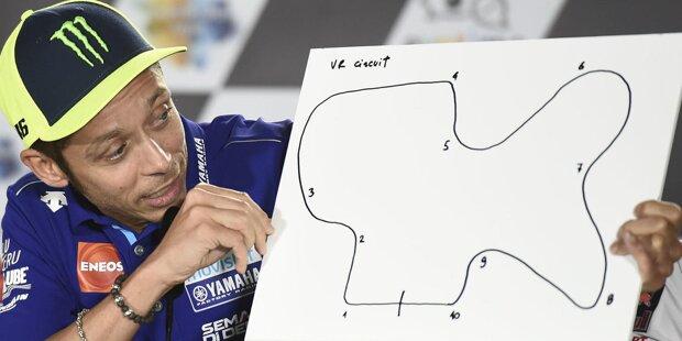 """Bradley Smith (Version 1): """"Ich habe zwei Versionen gezeichnet, denn ich kann das nicht. Die erste sieht aus wie ein Hund."""""""